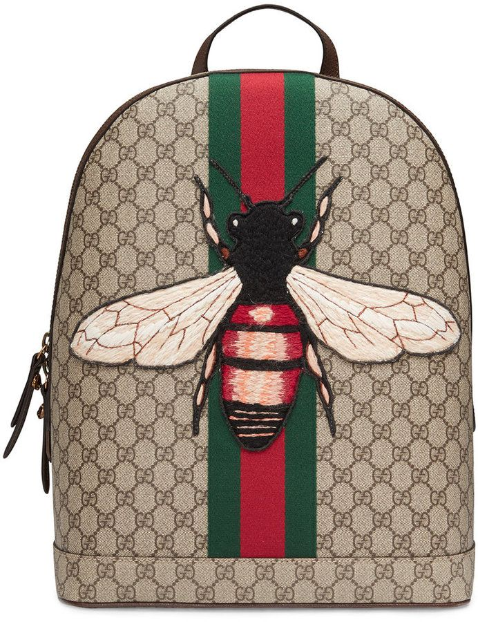 0caf642c0a42f4 Gucci Web Animalier backpack with bee | Women's fashion | Gucci ...