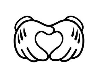 ミッキーマウス 手 イラスト」の画像検索結果