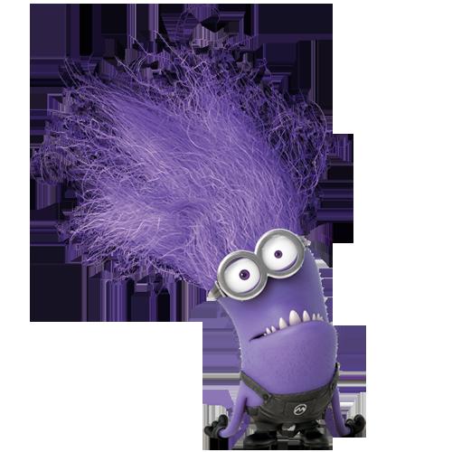 Purple Minion Smiling