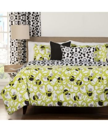 Siscovers Full Circle Green Modern Reversible 6 Piece Cal King