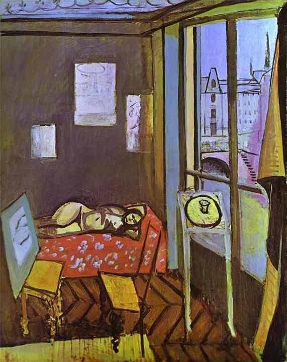 Henri Matisse - The Studio, Quai Saint Michel, 1917. #arte
