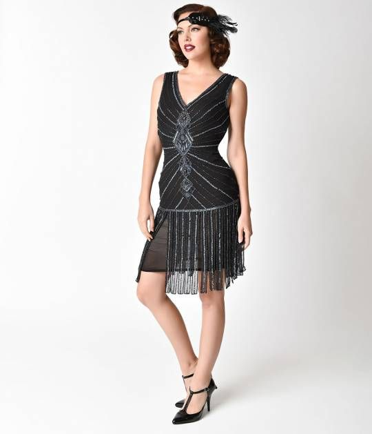 Gold Vintage 1920s Flapper Dress Fringe Dresses Evening Gown Easter Prom