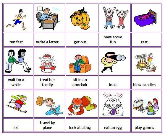 Action verbs English vocab Pinterest Action verbs - action verbs