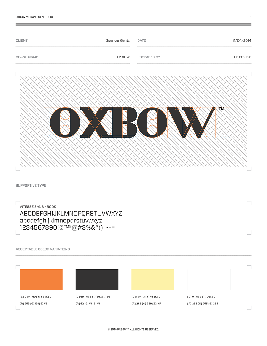 OXBOW™ -  Branding + Product Design on Behance By Colorcubic