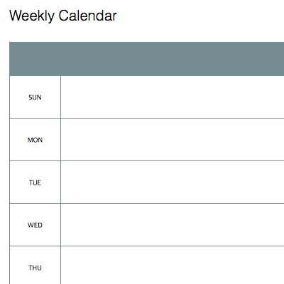 Weekly calendar Computer shit Pinterest Weekly calendar - weekly schedule template