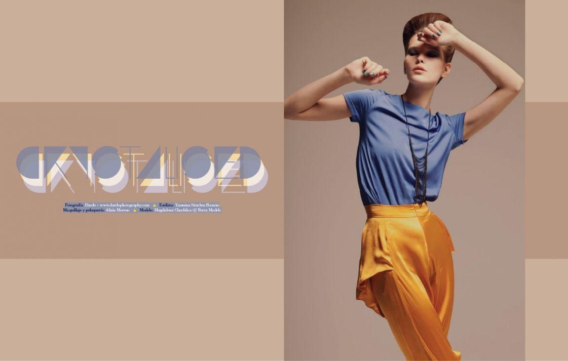 Doze Magazine  EDITORIAL: CRYSTALISED  Fotografía: DARDO - Estilismo: Yasmina Sánchez Ramón - Maquillaje y peluquería: Alizia Moreno - Modelo: Magdalena Chachlica @ Berta Models