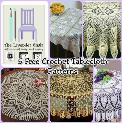 10 Free Crochet Tablecloth Patterns The Lavender Chair Doilies
