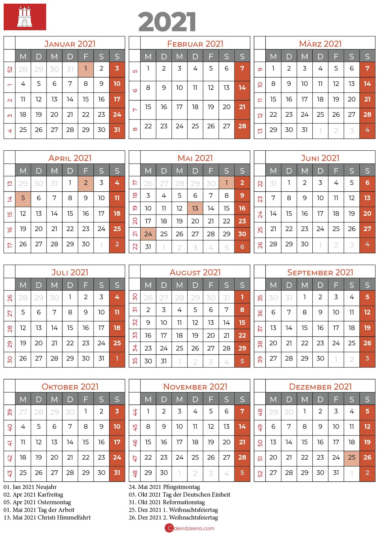 Kalender 2021 Hamburg Periodic Table Diagram