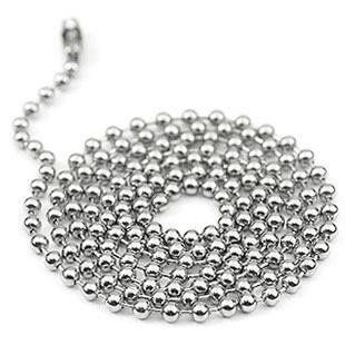 100 pcs 2.4mm 20inch Stainless Steel  Ball Beads Chain Necklace,Ball Chain KEYCHAIN Bead Chain