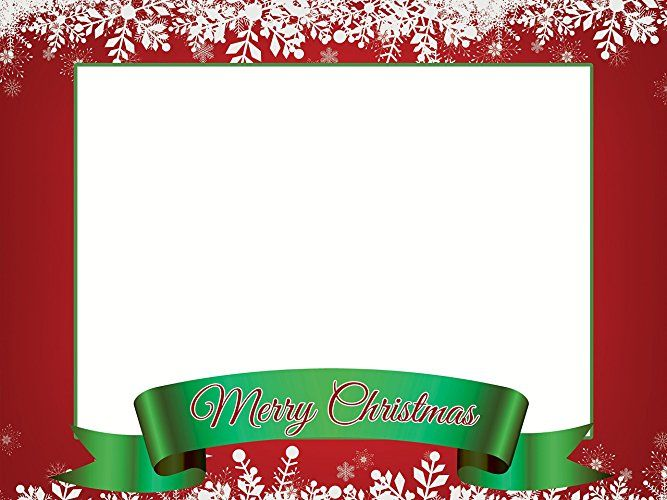 Large Custom Merry Christmas photo booth frame prop ...