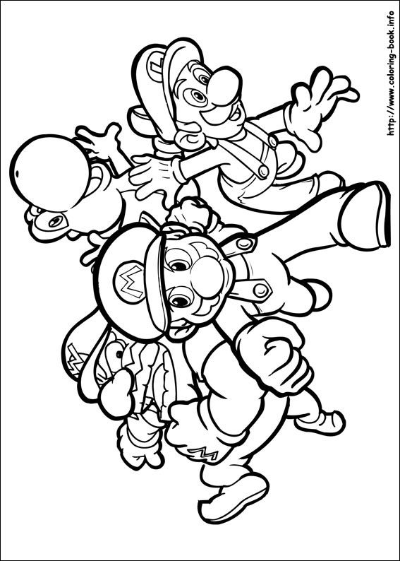 Super Mario Bros. coloring picture | Coloring for kid。 | Pinterest ...