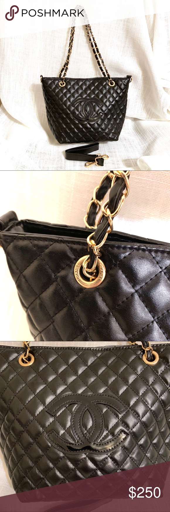 f0dacf18a6d1 Chanel Precision Quilted VIP Gift Tote Bag Chain Brand new, never used, no  flaws