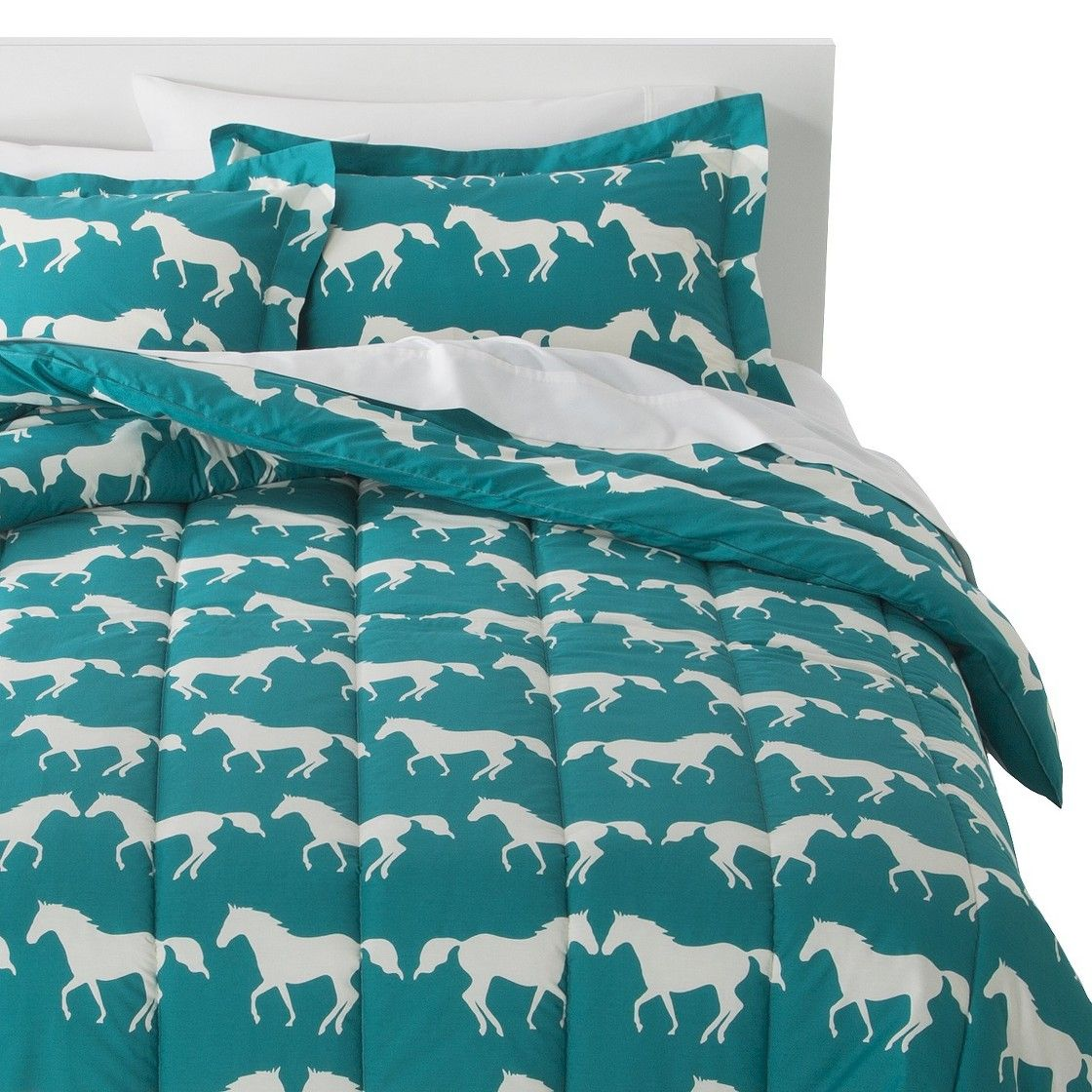 Anorak Horses Comforter Set   Blue White. Anorak Horses Comforter Set   Blue White   Creative ideas