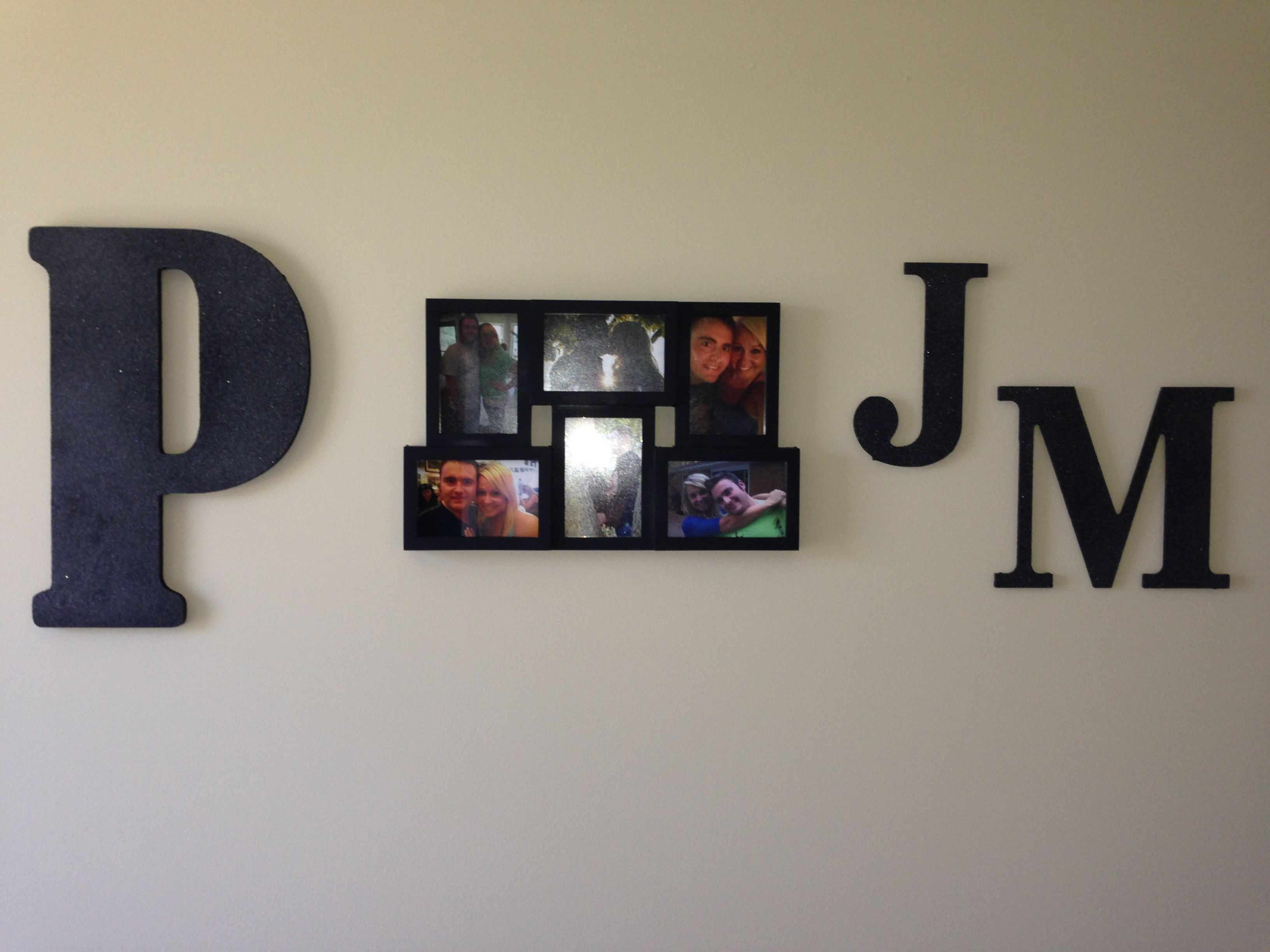 Bedroom Decor Wooden Initial Letters From Hobby Lobby Painted Black