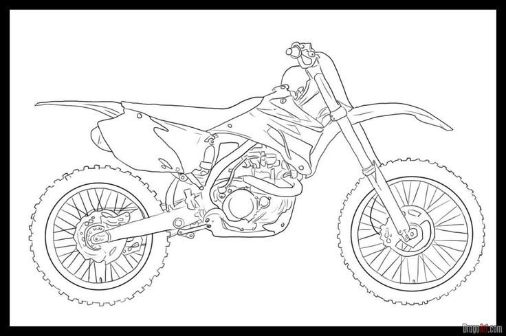 Dirt Bike Coloring Pages For Kids Bike Drawing Dirt Bike Tattoo Motorcycle Drawing