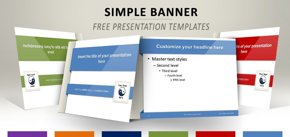 Simple Banner Free Template For Powerpoint And Impress Templates