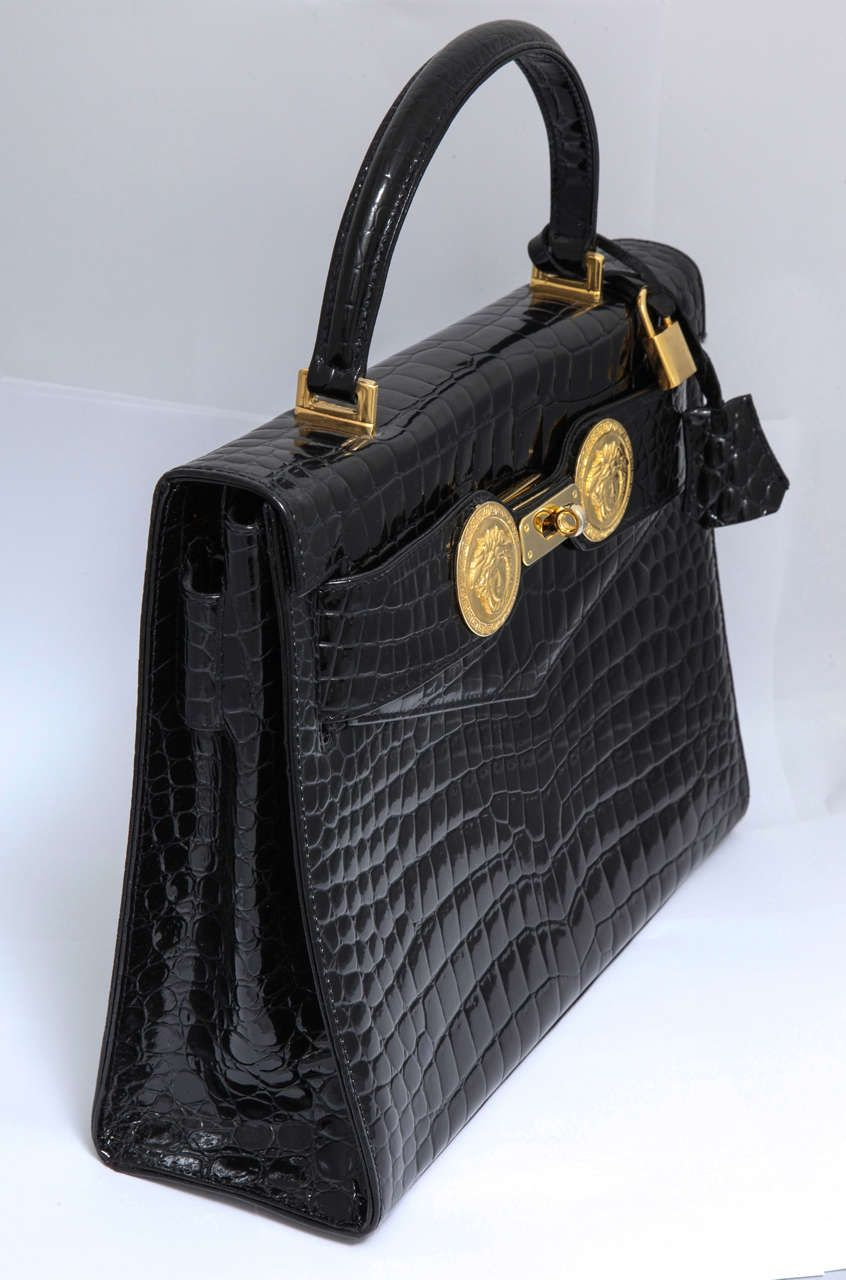 688d40596c Gianni Versace Couture Crocodile Bag With Medusas