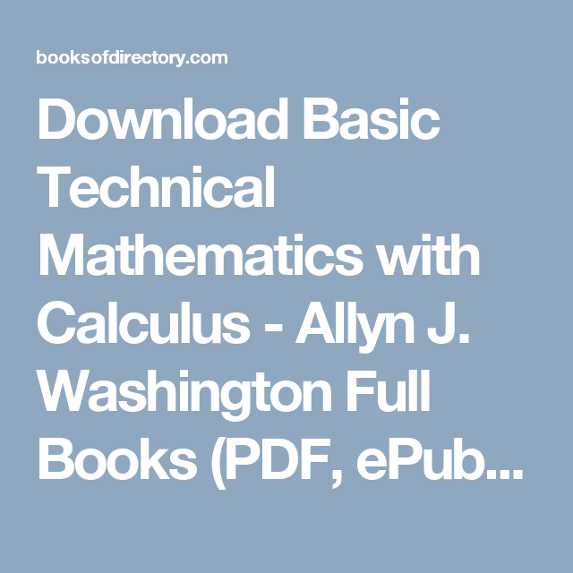 Basic technical mathematics with calculus pdf dolapgnetband basic technical mathematics fandeluxe Image collections