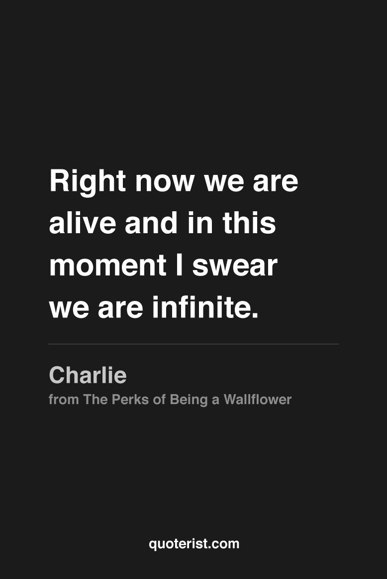 Right Now We Are Alive 8230 More Quotes From The Perks Of Being