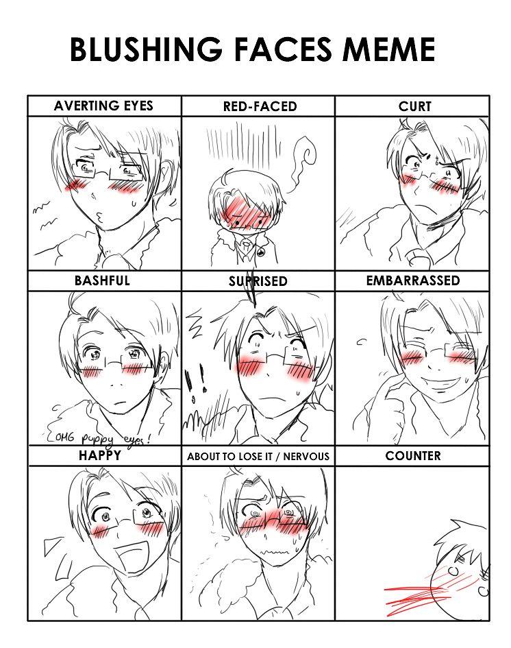 APH Blushin Faces Meme by KisuFu on deviantART Anime