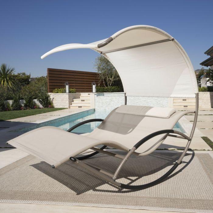 Liegestuhl - Luxus pur und vollkommene Entspannung ...