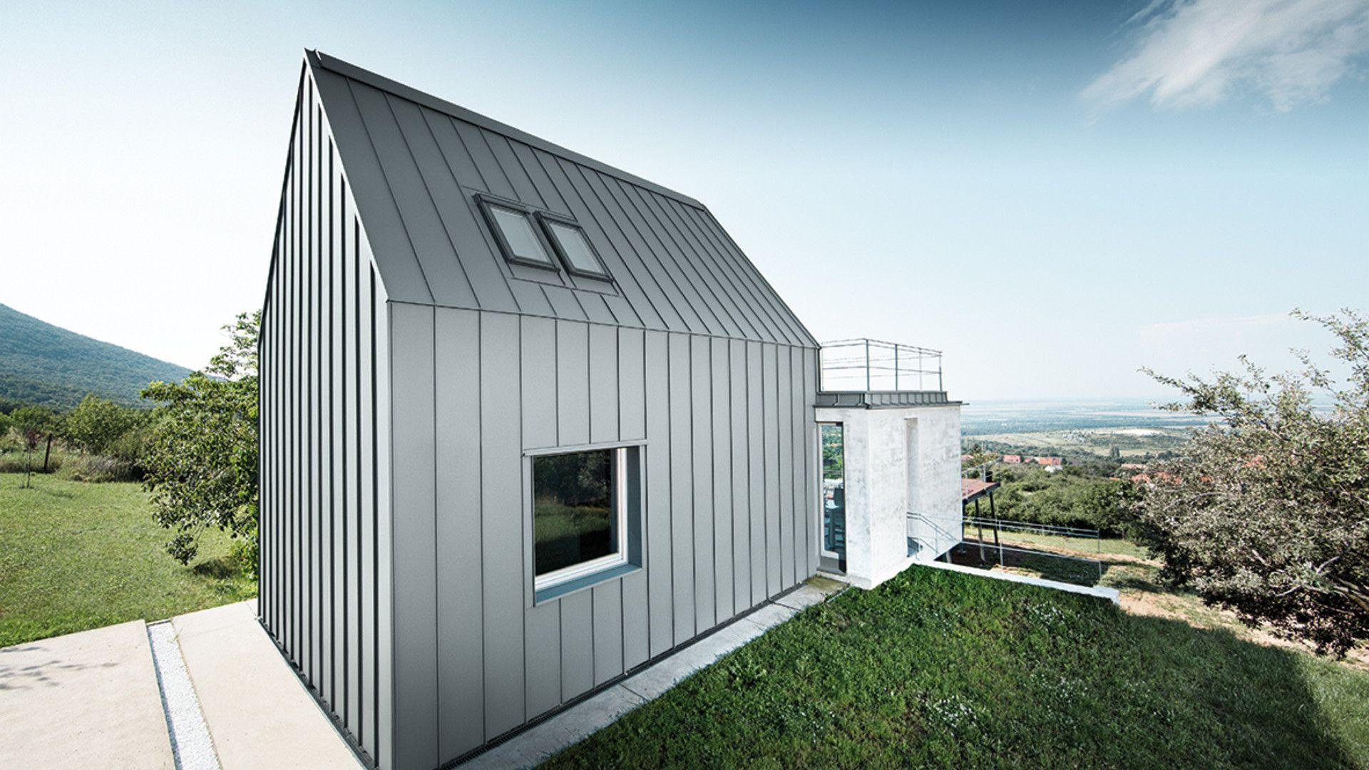 entdecken sie geb ude mit aluminium dach oder fassade von prefa ideen rund ums haus. Black Bedroom Furniture Sets. Home Design Ideas