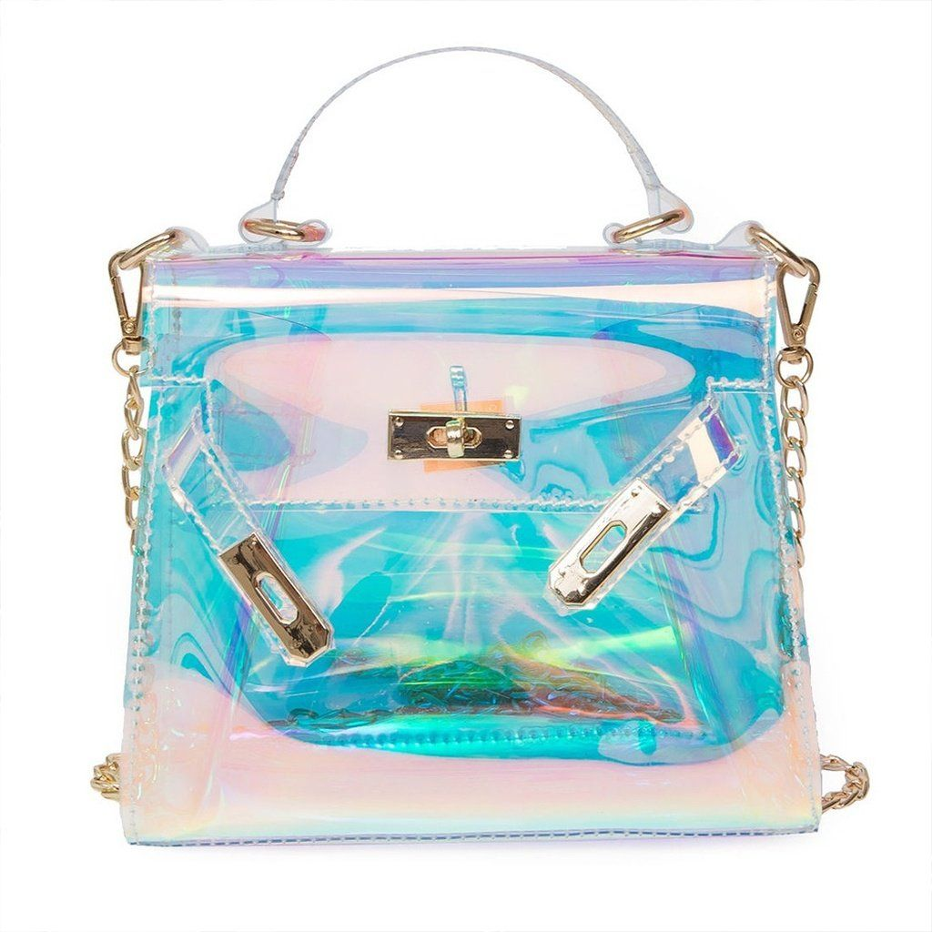 e181e16e5 Style: Fashion Material: PU Leather Gender:Women  Size:19*8*15cm/7.48*3.15*5.915.91 Color.multicolor Pattern: Transparent  Function:Handbag;Shoulder Bag ...