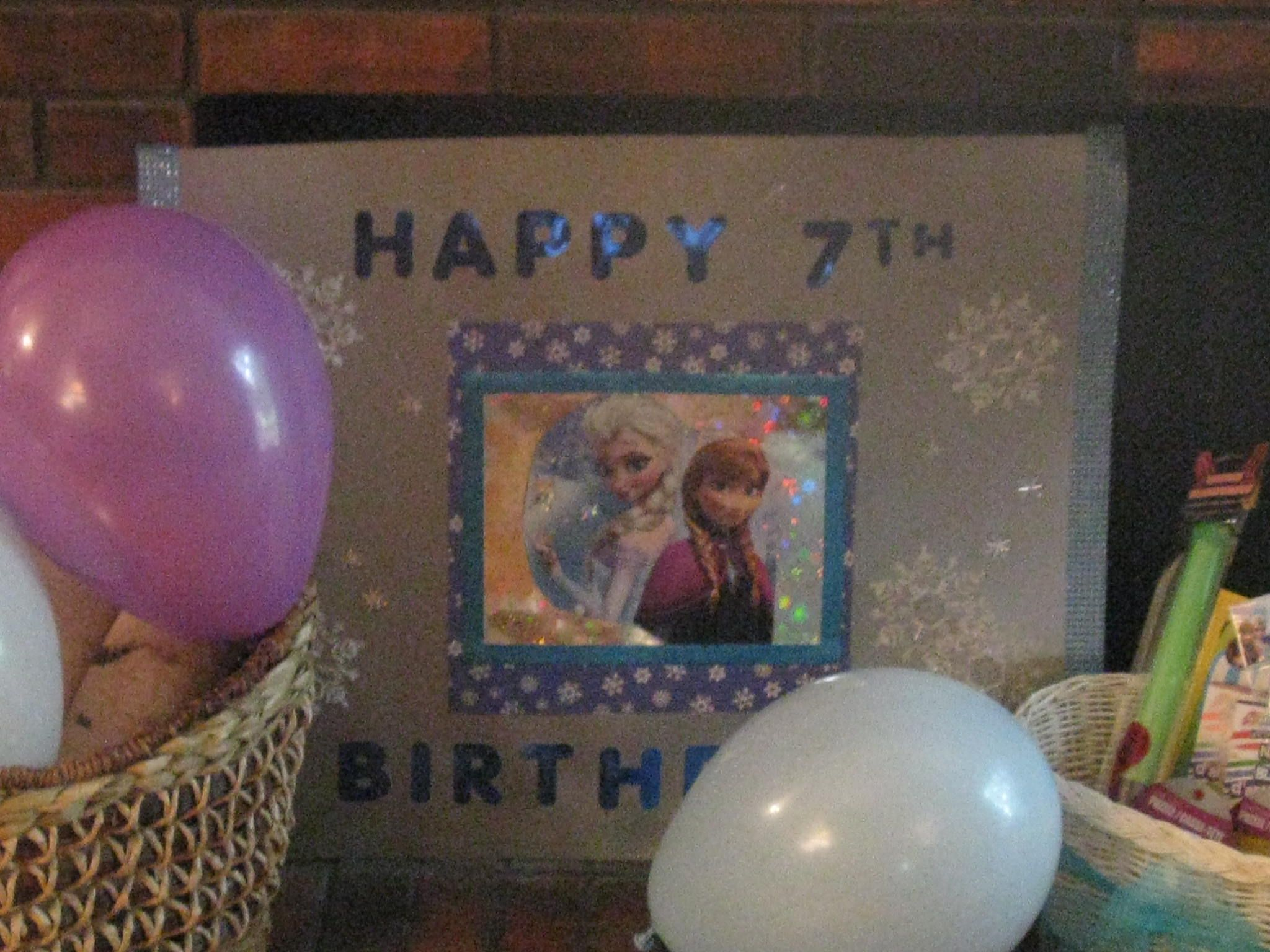 Frozen birthday party decorations ideas  Frozen happy birthday sign Made this sign using scrapbook supplies