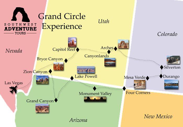 FOUR CORNERS |Four Corners National Park Map