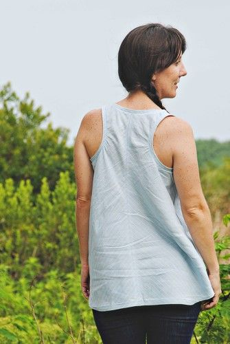 Indiesew.com   Foxglove Tank Sewing Pattern by Selvage Designs ...