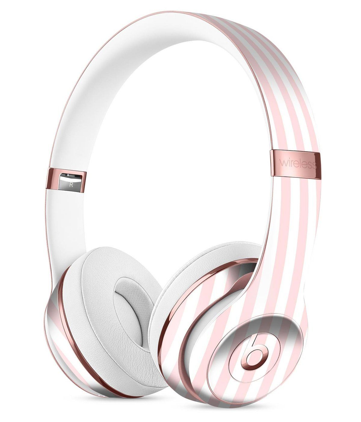 eb36d826e44d Baby Pink Vertical Stripes Full-Body Skin Kit for the Beats by Dre Solo 3 Wireless  Headphones