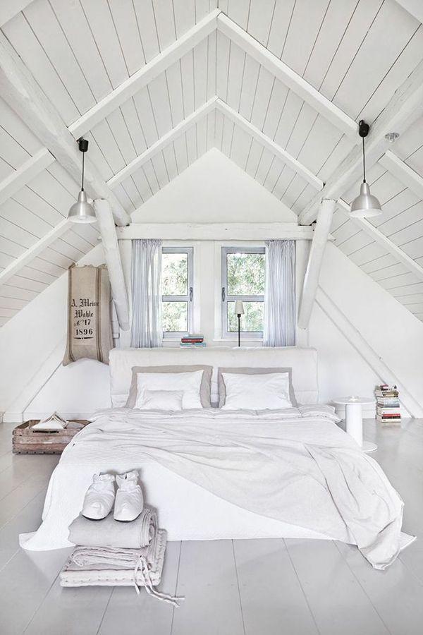 Witte zolder | Makeupyourhome | Pinterest - Zolder, Zolderkamer en ...