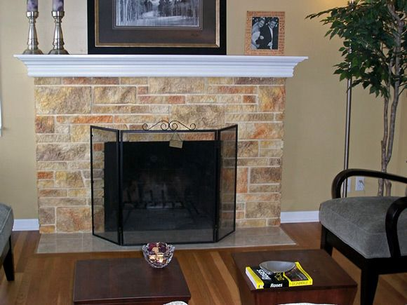 Chimney Decoration Ideas firplace idea |  accentuate the classic look of your brick