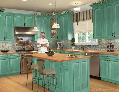 Turquoise Kitchen Designing Country Kitchen Designs Cottage