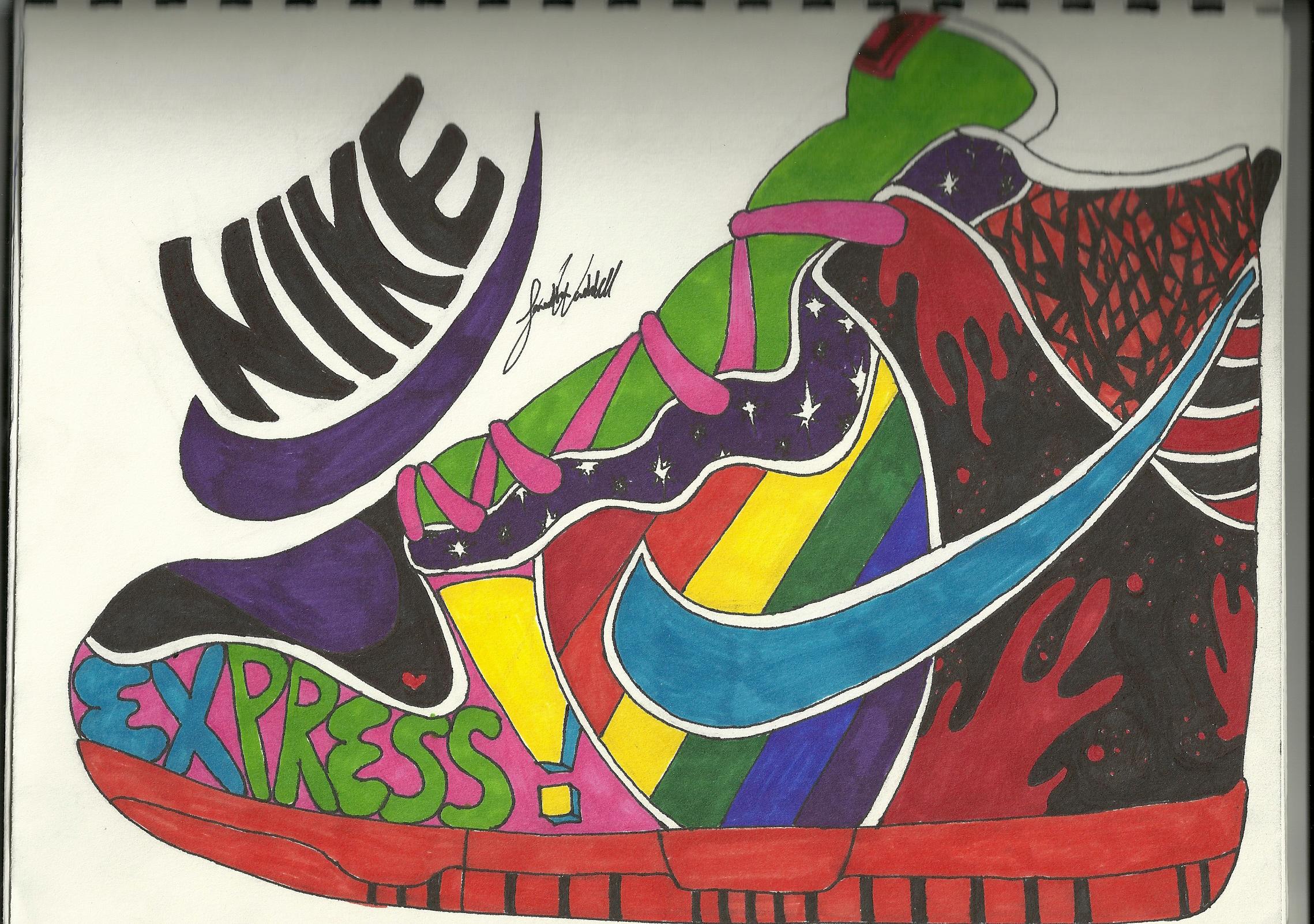 Art Project NIKE shoe