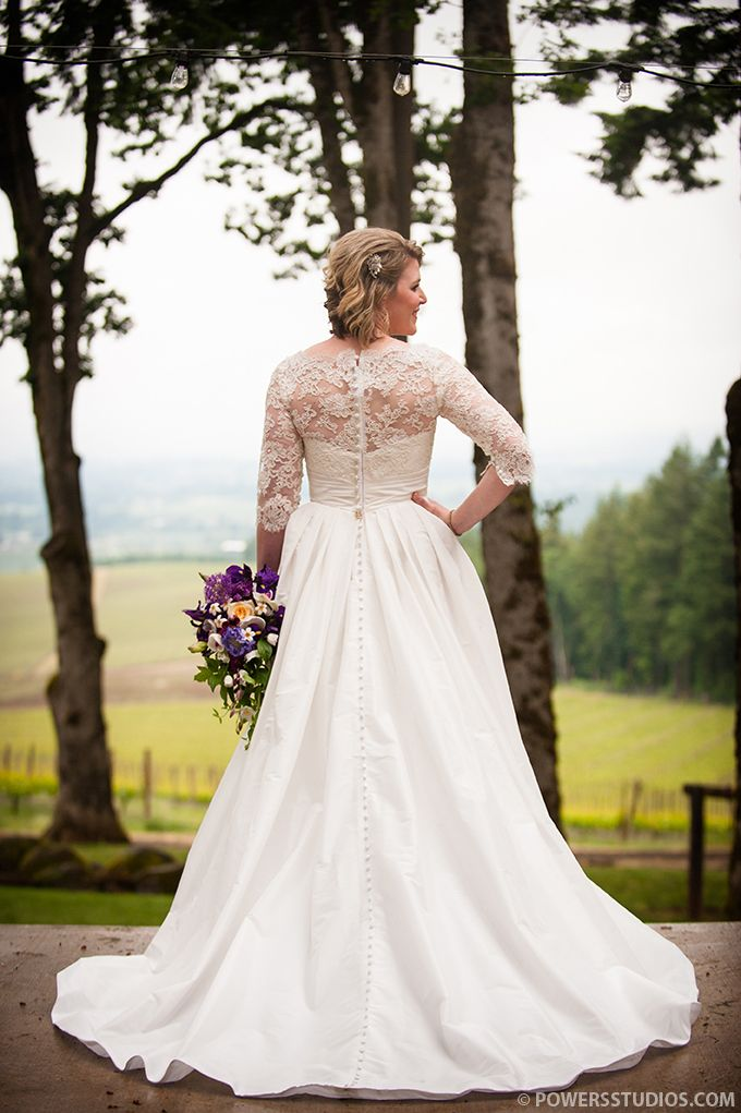 Lace Sleeves Added To Strapless Dress