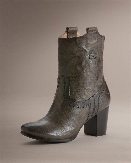 Boot Love: Frye Carson Mid Heel  Short $328