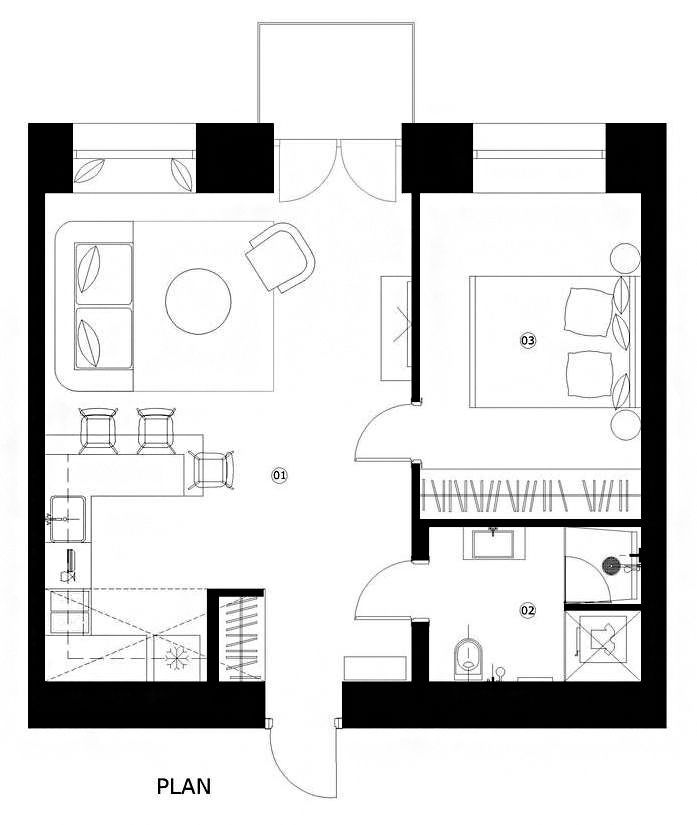 Gallery of House Plans Under 50 Square Meters: 26 More Helpful Examples of Small-Scale Living – 41
