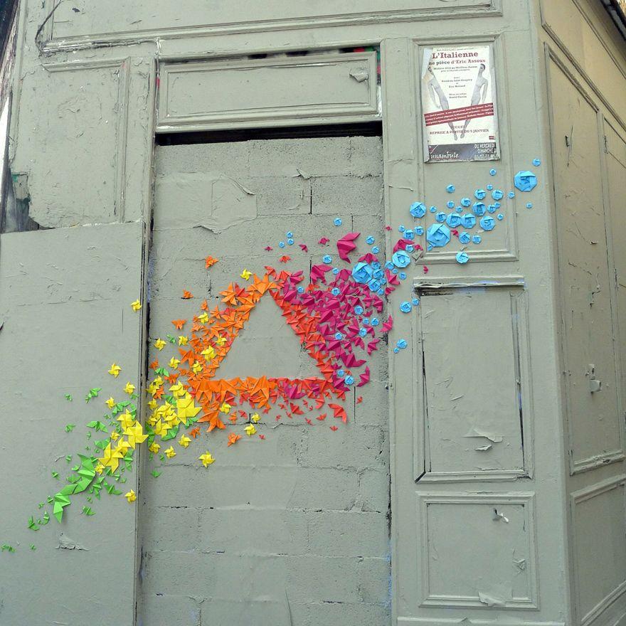 Origami Street Art by Mademoiselle Maurice   art   Pinterest