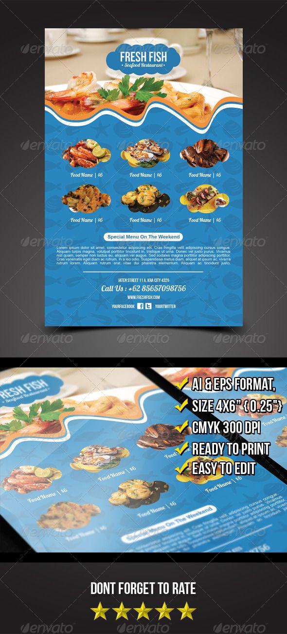 Seafood Flyer Template   Restaurante