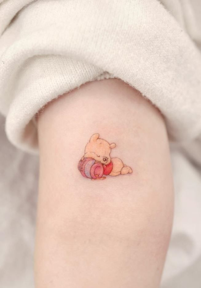 Cute Pooh tattoo