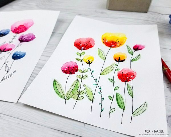 Easy Watercolor Flowers Step By Step Tutorial Watercolor