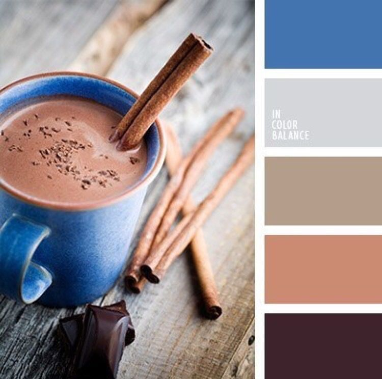 Кофейный цвет сочетание с другими цветами