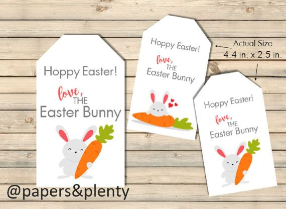 Printable from the easter bunny easter basket giftname tags printable from the easter bunny easter basket giftname tags kids easter negle Image collections