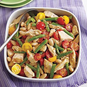 Grilled Chicken And Two Bean Salad Ricetta Ricette