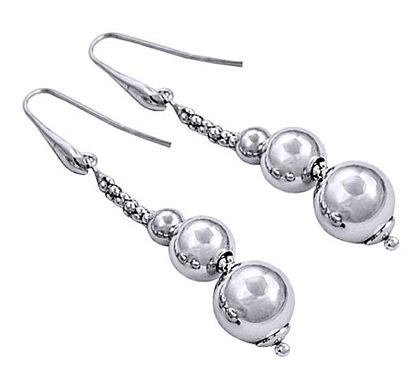 Dlugie Kolczyki Srebrne Linki Kulki Srebro 925 3373875237 Oficjalne Archiwum Allegro Earrings Pearl Earrings Jewelry
