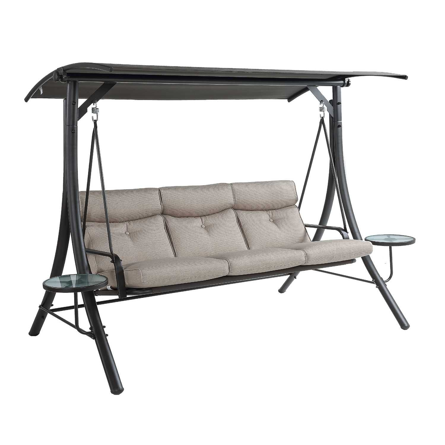 Living Accents Steel 3 person HiBack Swing 65.8 in. 79 in