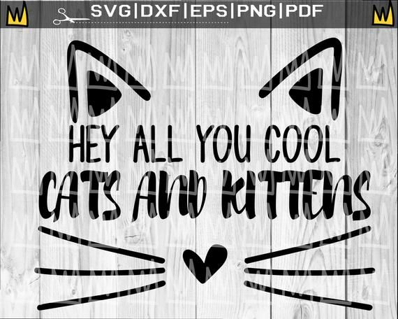 Hey All You Cool Cats And Kittens Svg Carole Baskin Joe Etsy In 2020 Cool Cats Cats And Kittens Kittens