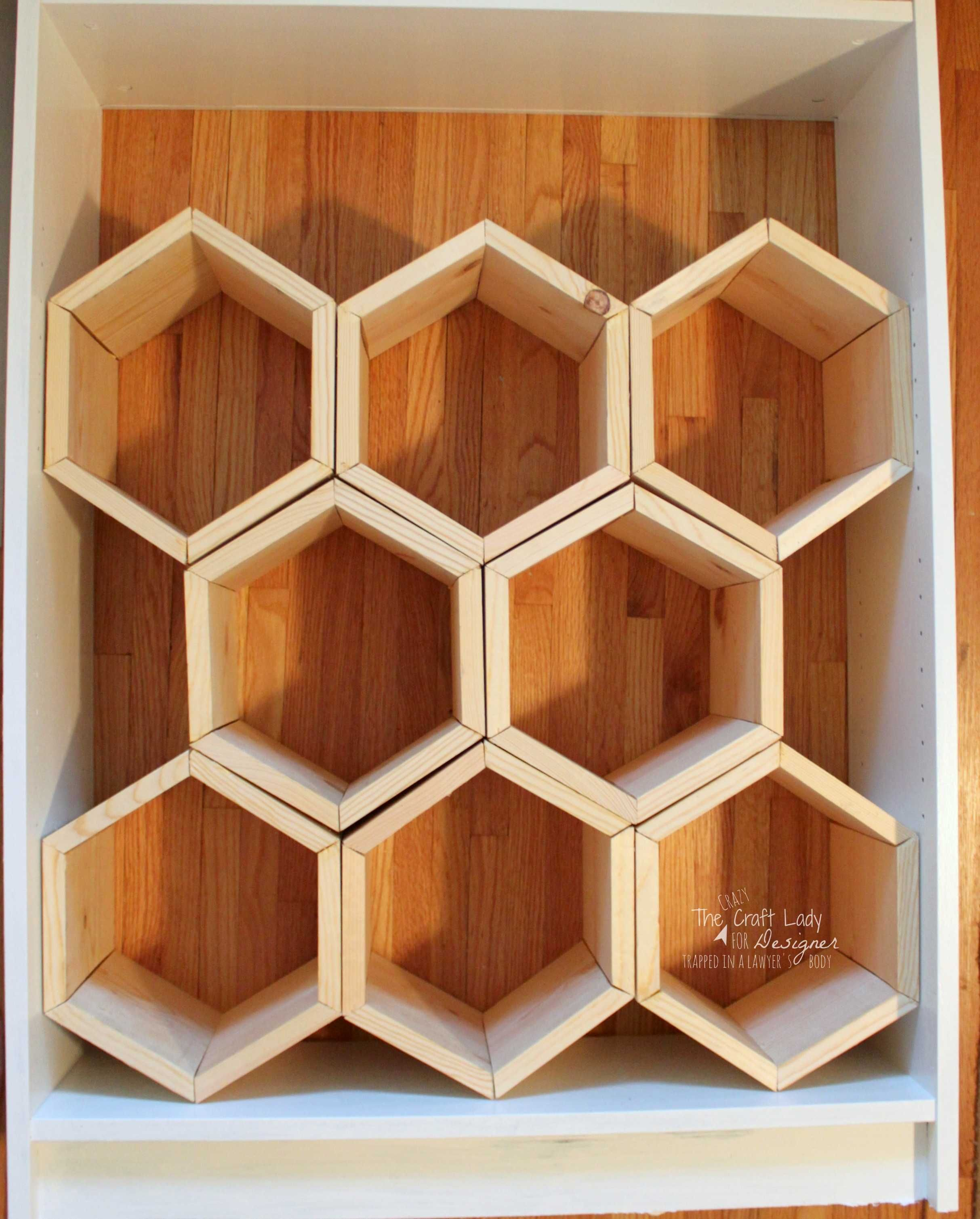 hexagon diy shoe rack - Deko Ideen Hexagon Wabenmuster Modern