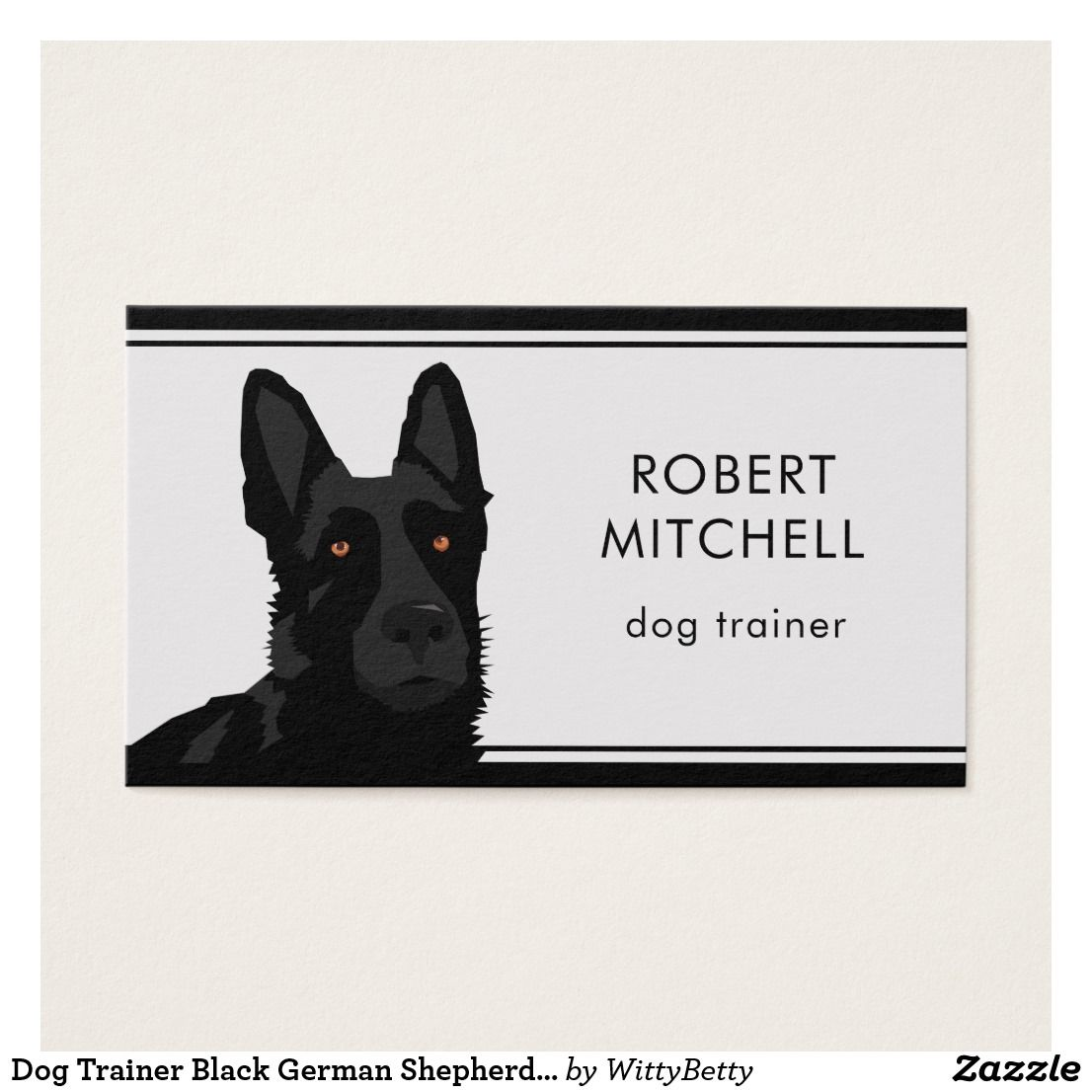 Dog Trainer Black German Shepherd Business Card Zazzle Co Uk